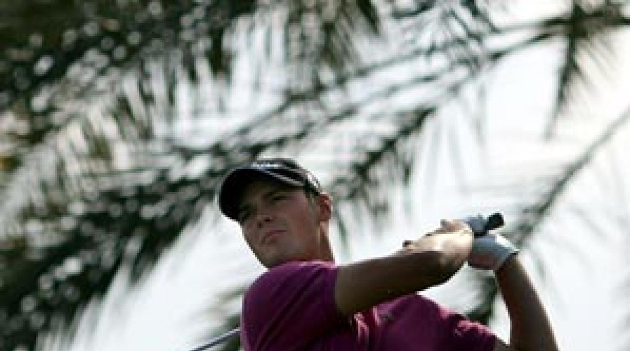 Germany's Martin Kaymer vaulted to 21st after he won the Abu Dhabi Championship last month.