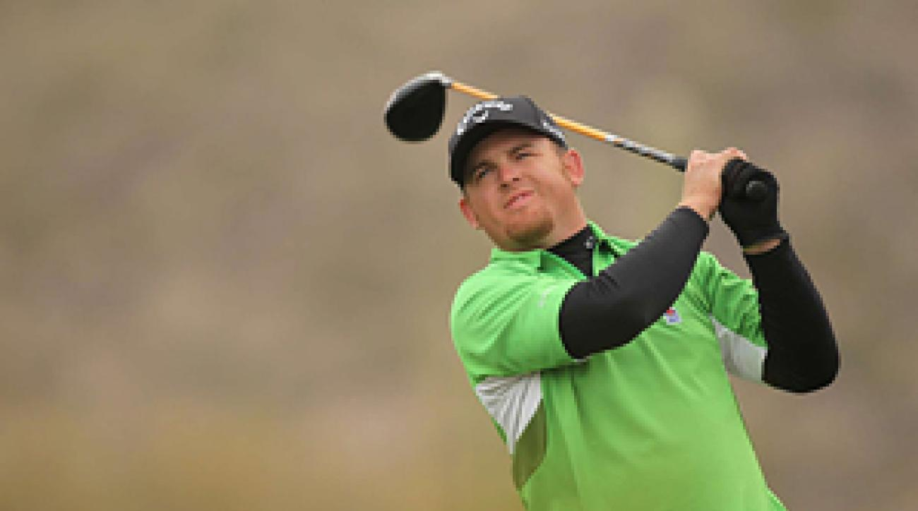 J.B. Holmes took an unplayable lie on the 19th hole to lose the match.