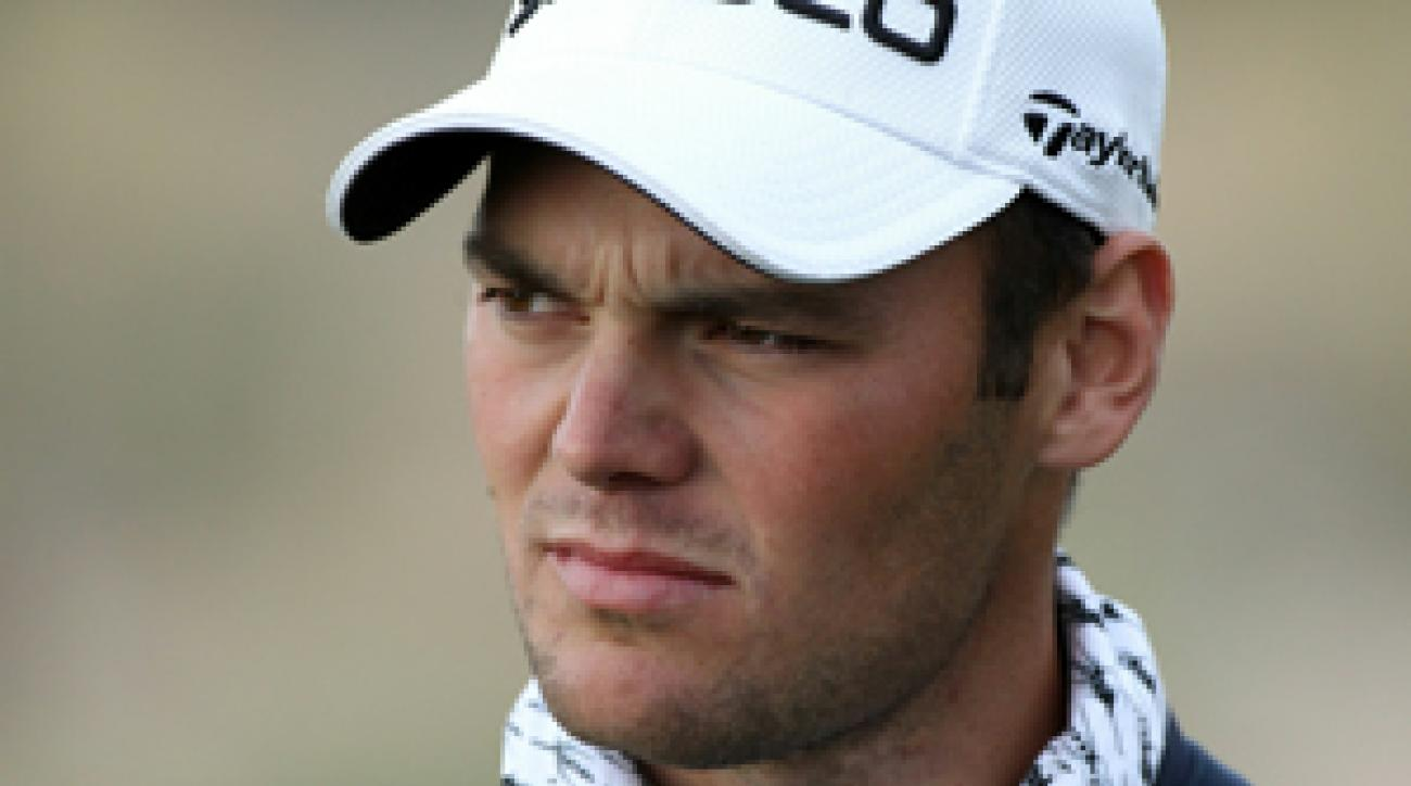 Martin Kaymer said he didn't pack any turtlenecks and needed something to keep him warm.