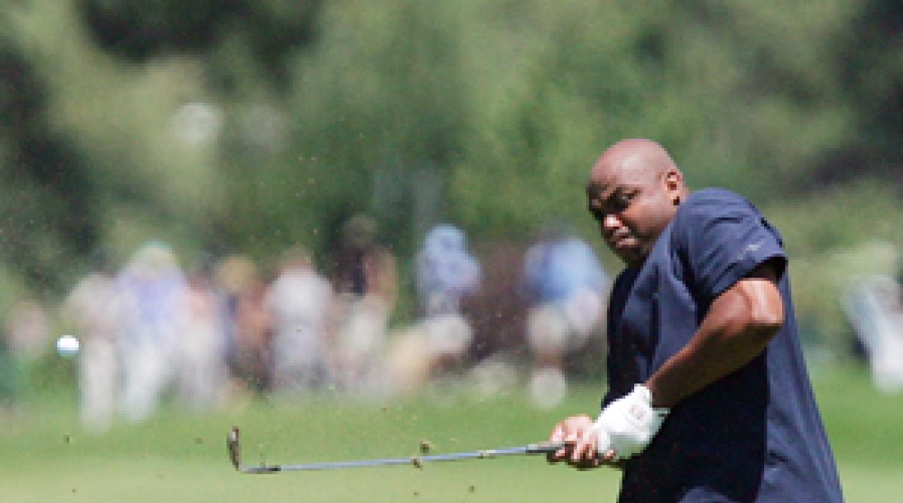 Charles Barkley used to be a 10 handicap, but now he struggles to break 100.