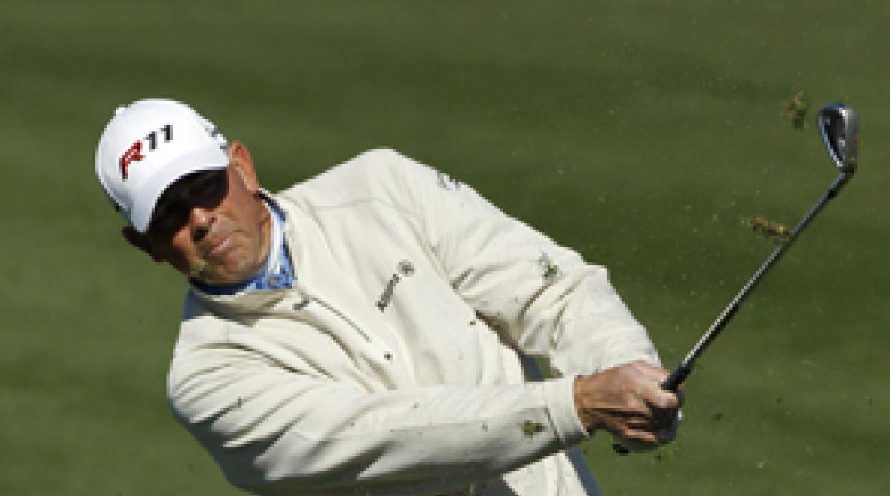 Tom Lehman made seven birdies and one bogey on Thursday.