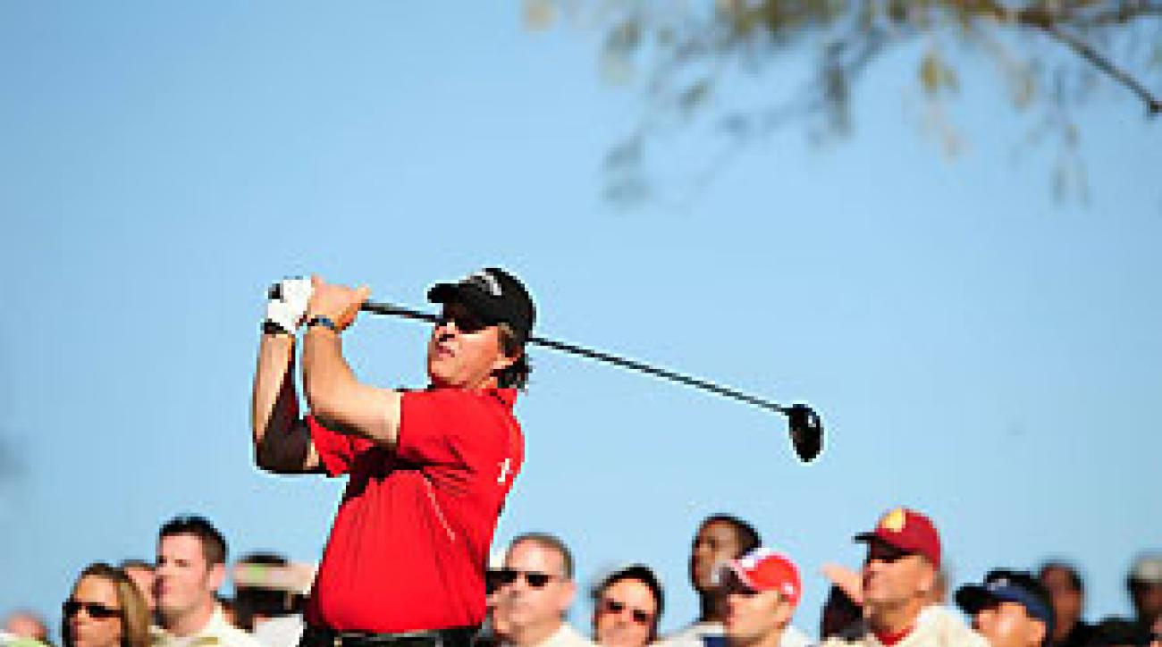 Phil Mickelson lost in a playoff last week to J.B. Holmes.