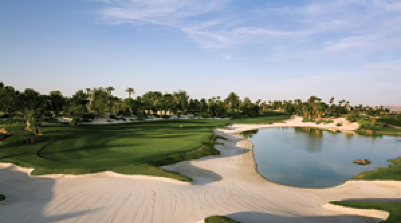 """""""South Pacific"""" meets The Strip: the 11th hole at Bali Hai Golf Club."""