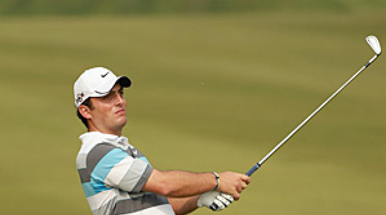 Francesco Molinari's wedge on 16 helped to secure his one-stroke victory over Lee Westwood.