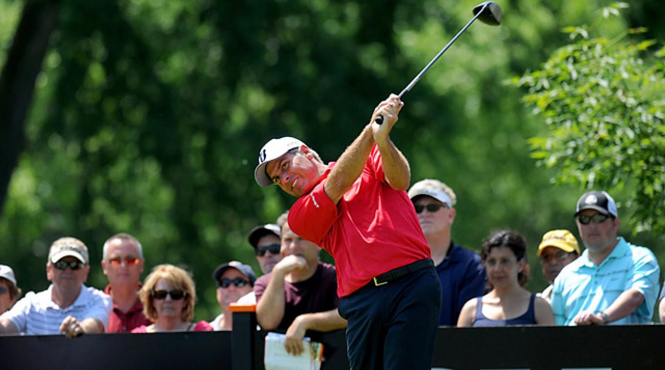 Fred Couples is tied for second, one shot off the lead.