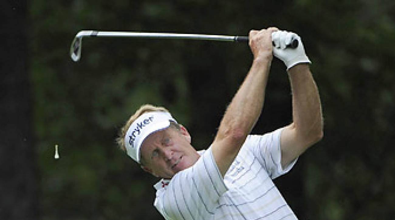 Fred Funk shot a five-under 67 to get within one stroke of the lead.