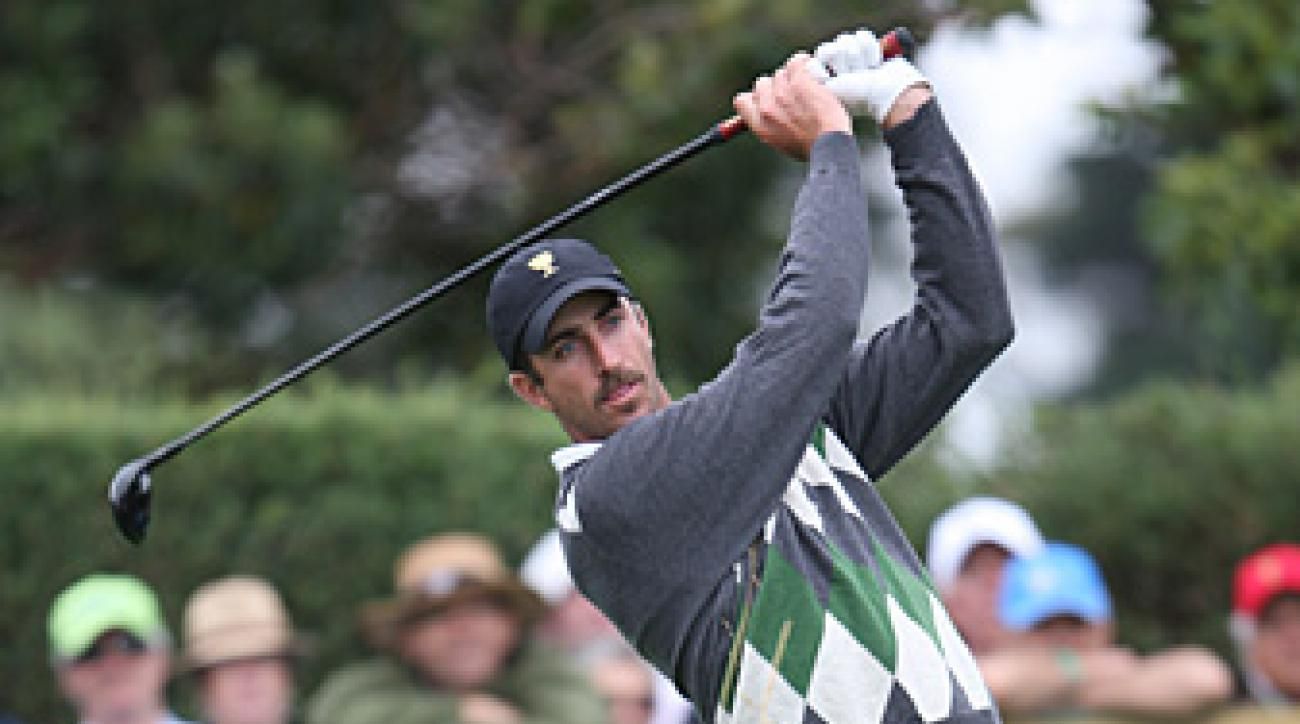Geoff Ogilvy at the 2011 Presidents Cup, where he led the International team with a 3-1-1 record.