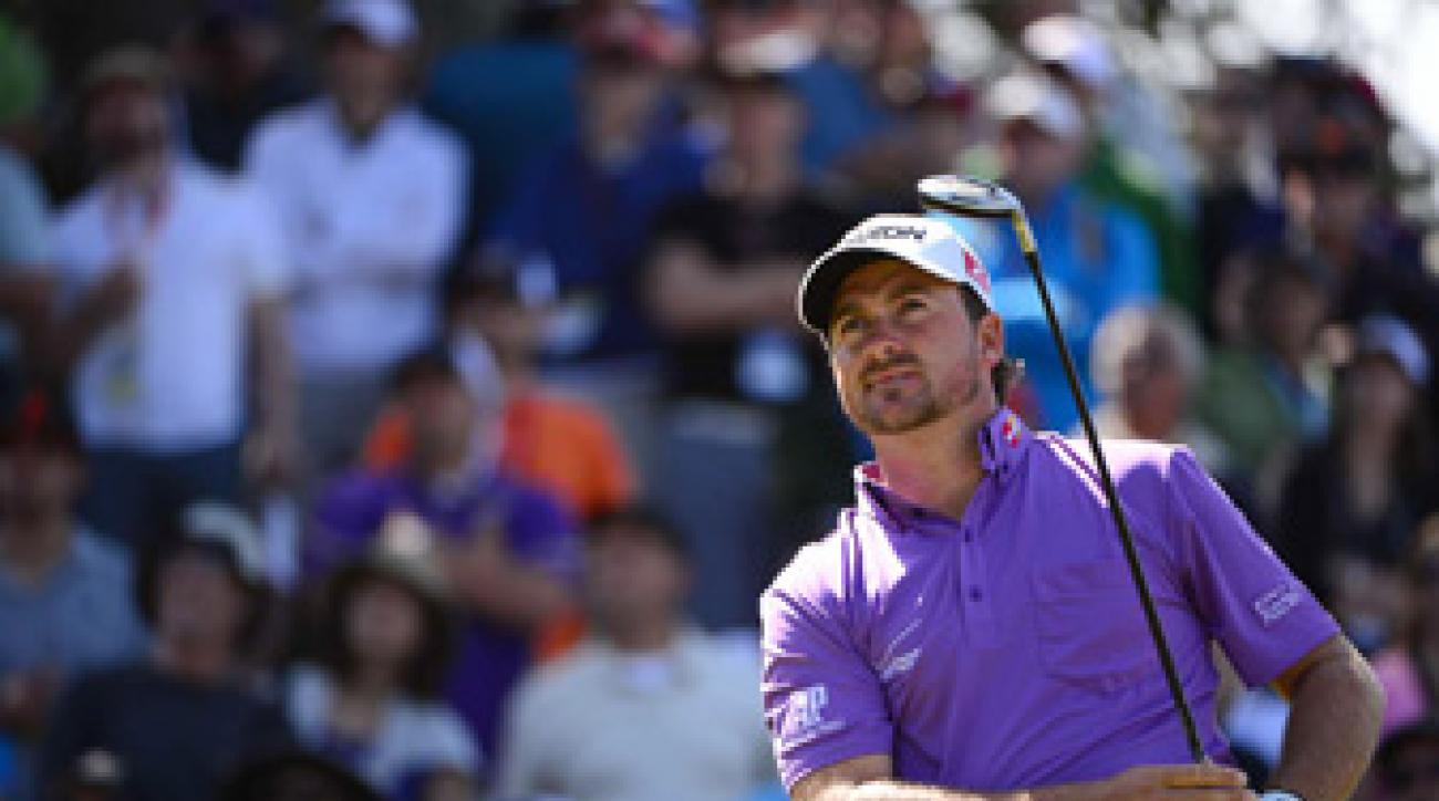 Graeme McDowell shot three under par on the back nine.