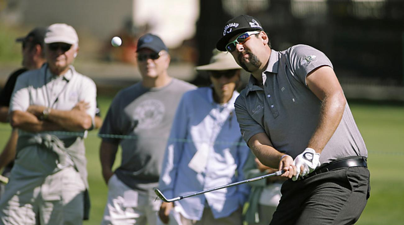 Andres Gonzales is tied for the lead after firing a 66 on Thursday.