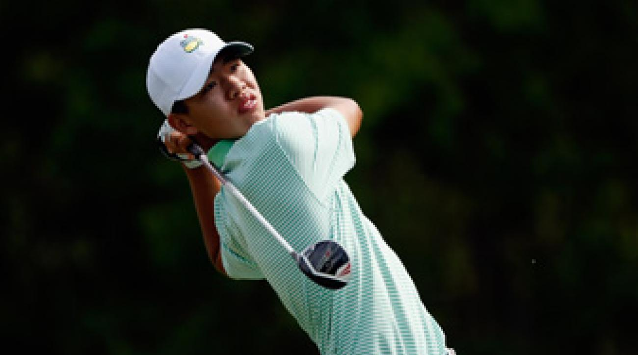Guan Tianlang, 14, made the cut at the Masters and the Zurich Classic.