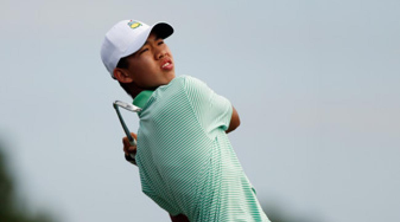 Guan Tianlang shot a three-under 69 Friday to make the cut.