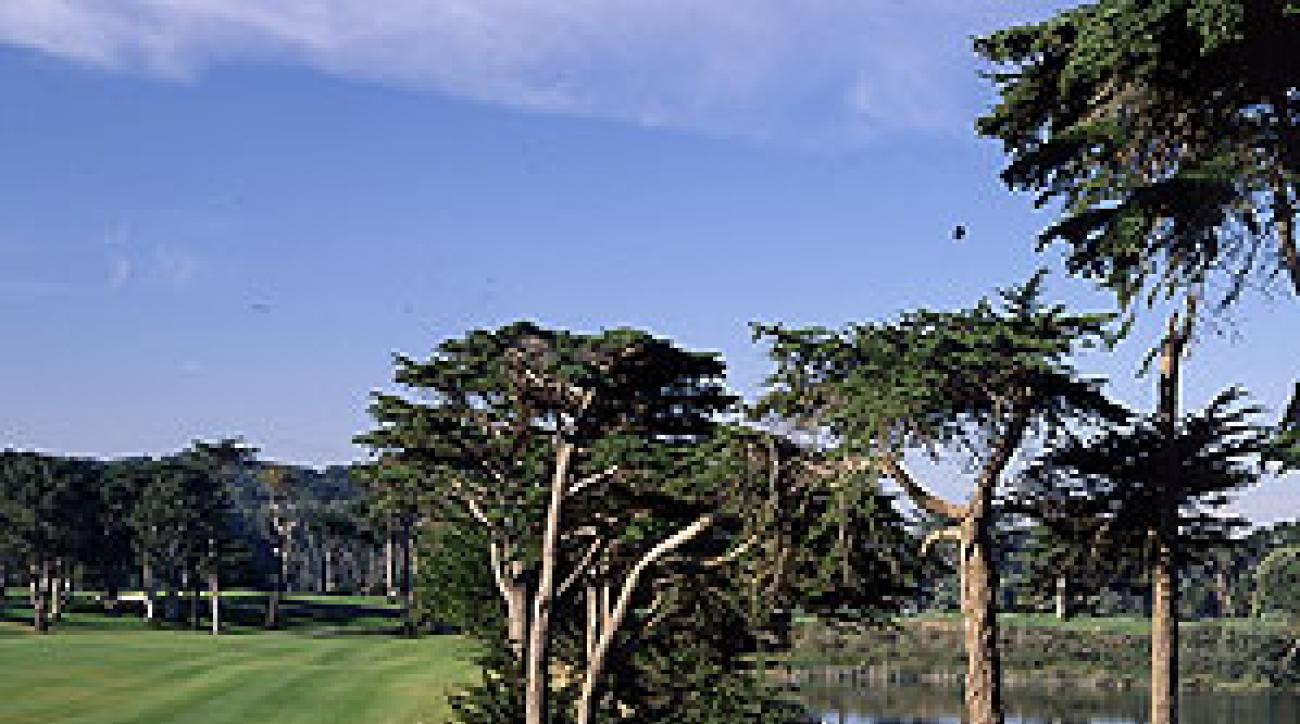 The 18th hole at Harding Park, a rare example of a successful facelift in California.