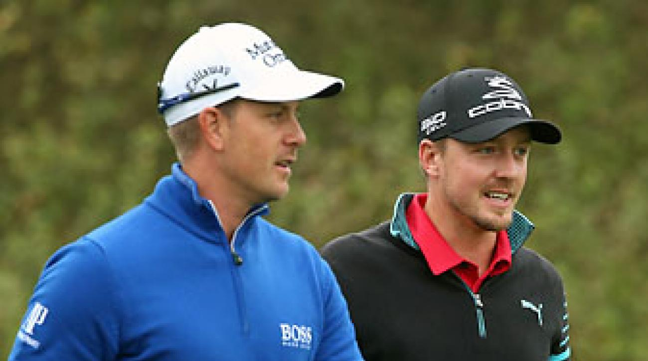 Henrik Stenson defeated fellow Swede Jonas Blixt 2-up Saturday at the World Match Play Championship.