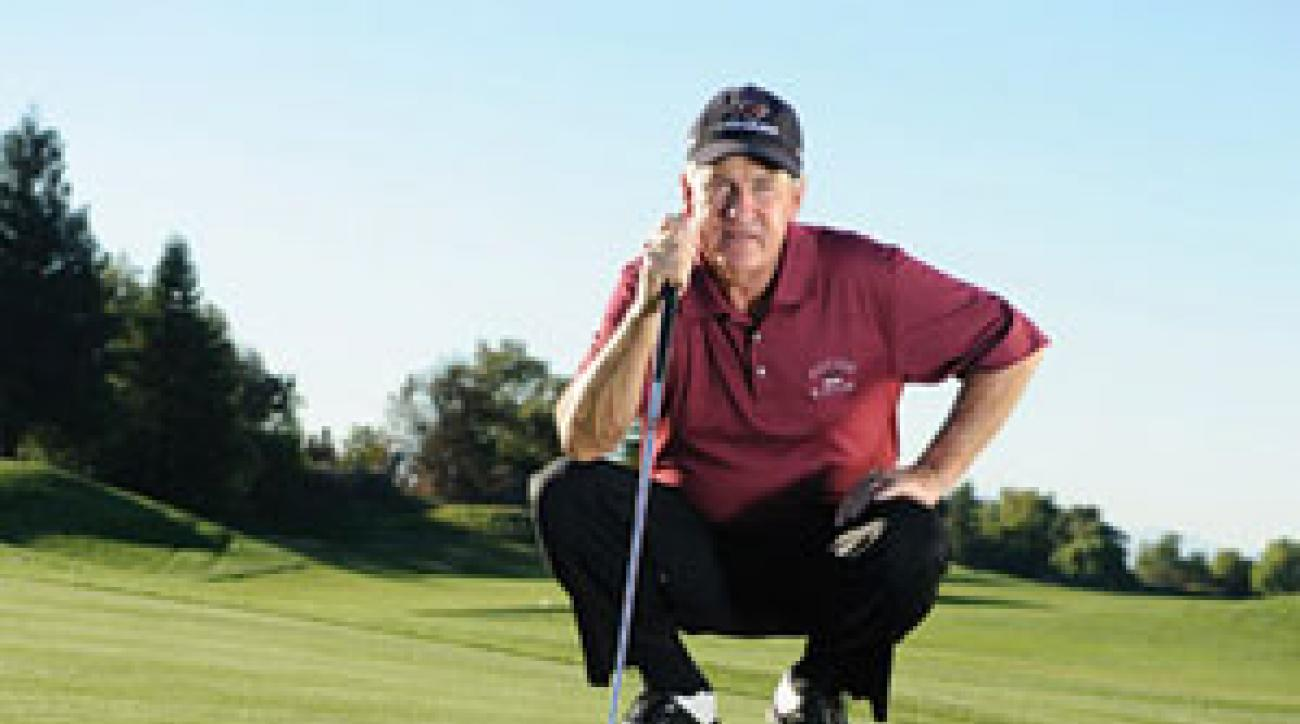"""If you have trouble reading greens, go back to the basics. Ask yourself, """"Which way would water run off?"""""""