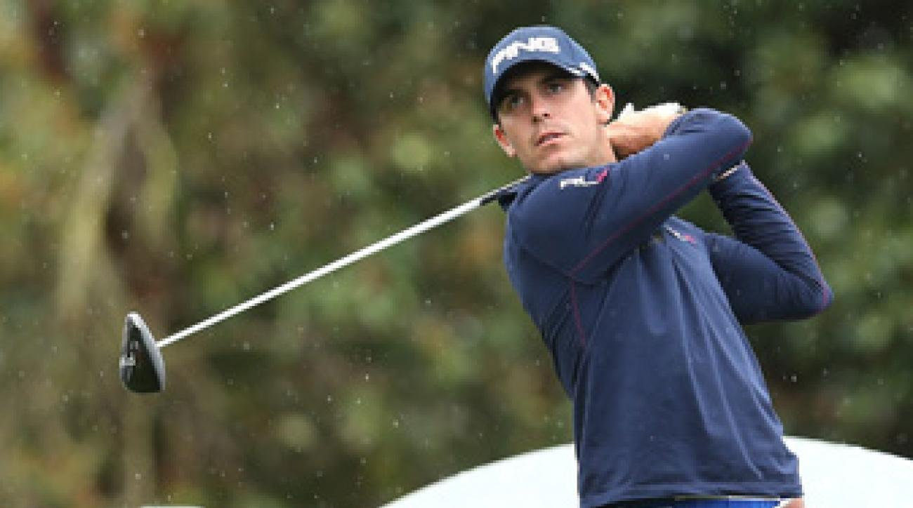 Billy Horschel is in second place at nine under par.