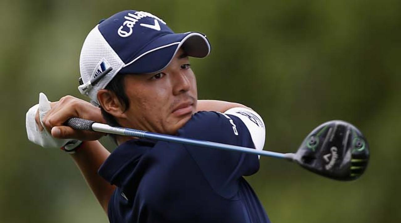 After falling to 158th in the world rankings, Ryo Ishikawa had a 69-68 weekend at the third Web.com Finals event in Ohio to punch his Tour card for next season.