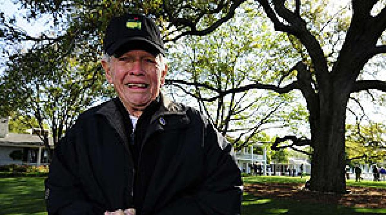 Recovering from a stroke, Burke returned to Augusta National after a seven-year absence.