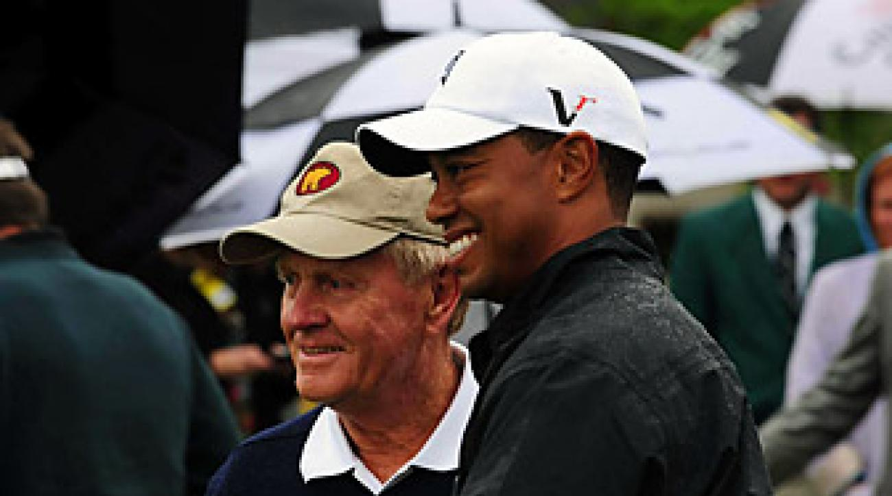 Woods' 14 major championships leaves him four behind The Golden Bear … for now.
