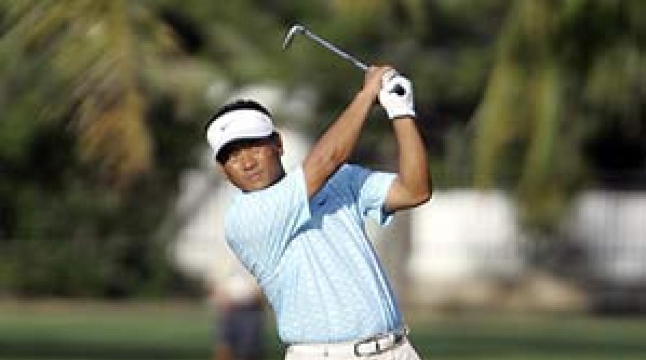 K.J. Choi shot a bogey-free 64 in the first round.