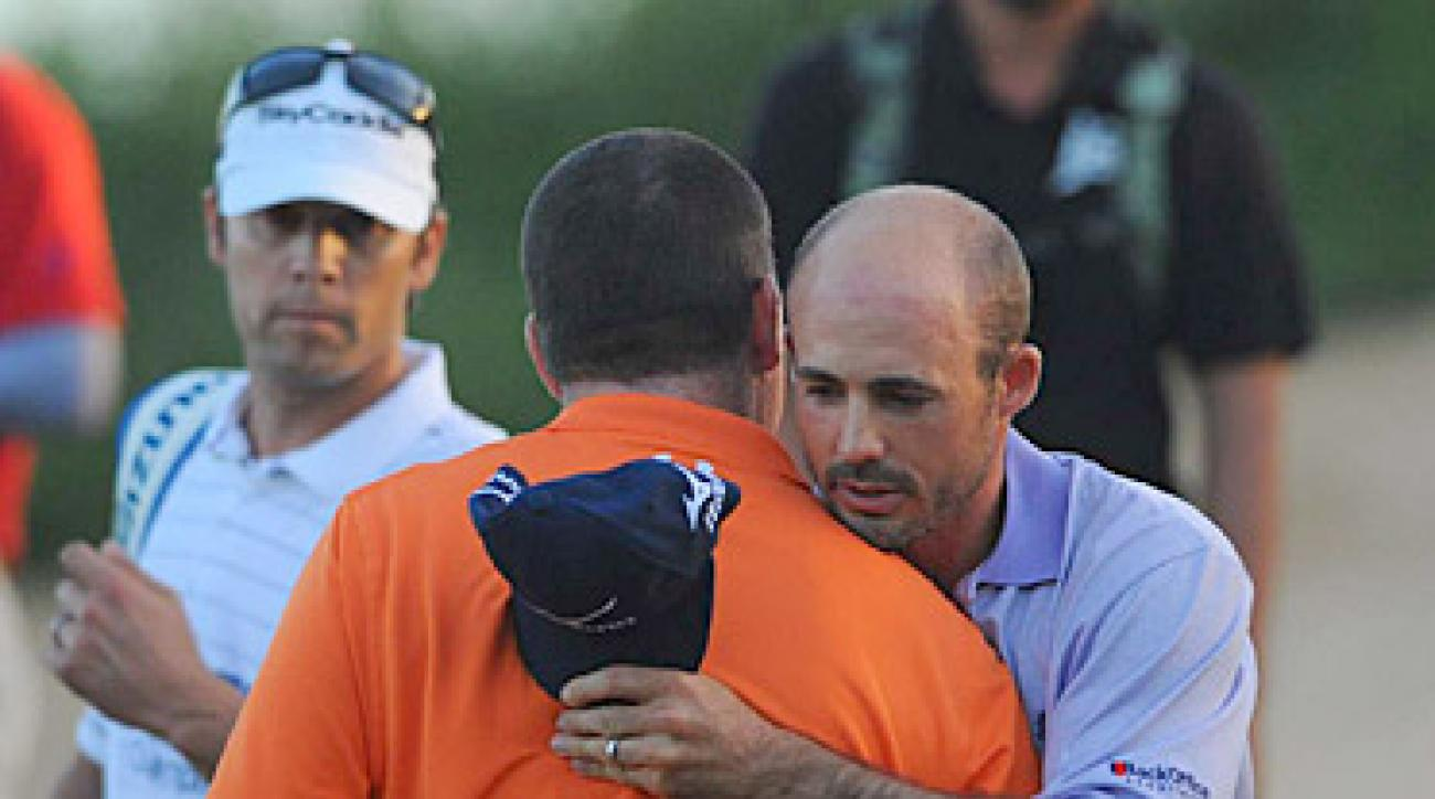 HAT'S OFF: Byrd, who got into the field by virtue of a walk-off ace in his final start of 2010, beat Garrigus on the second playoff hole, then tipped his cap to his gracious opponent.