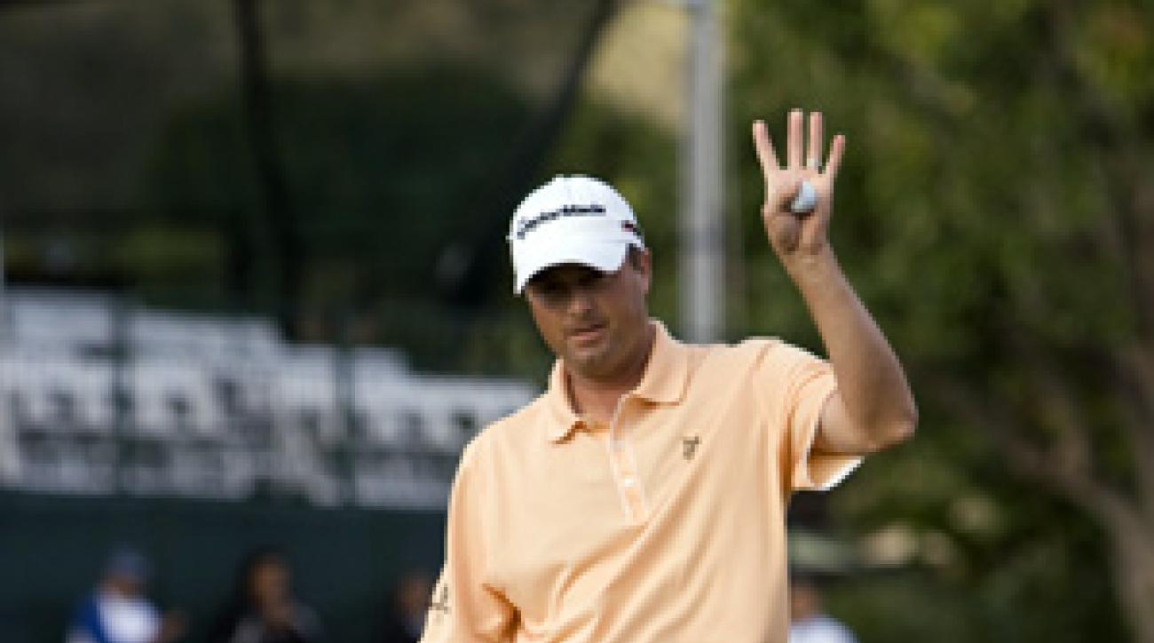 Ryan Palmer made five birdies and one bogey on Friday.
