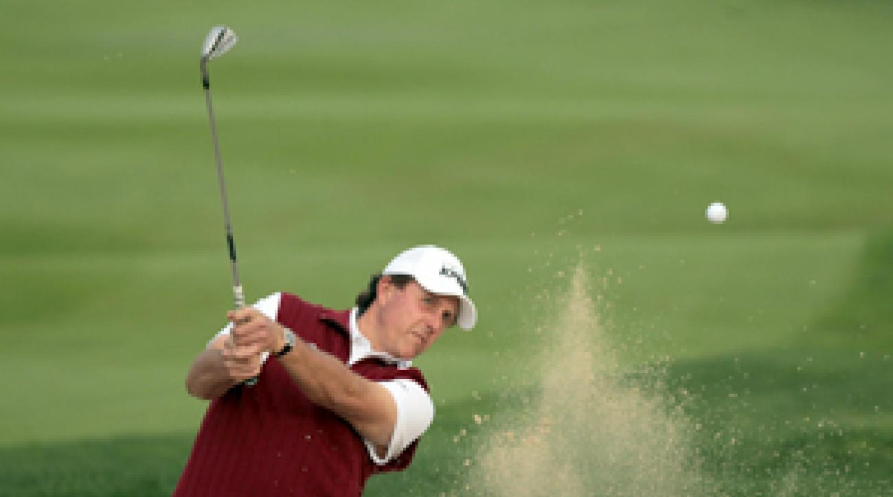Phil Mickelson is making his first appearance in Abu Dhabi.