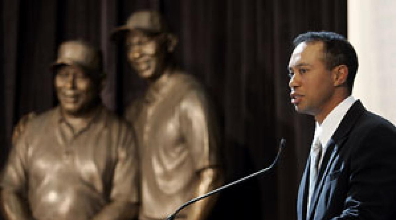 """He was all about helping others,"" said Tiger Woods of his father, Earl."