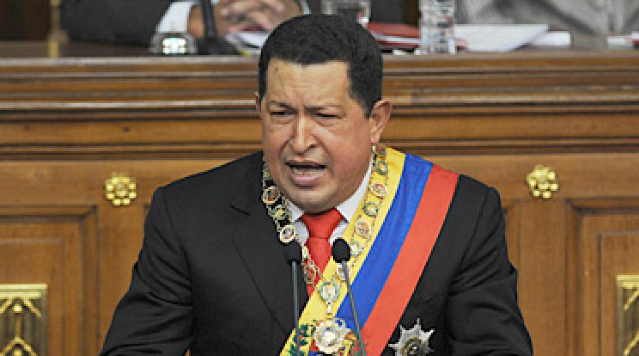 "Venezuelan President Hugo Chavez said in a televised speech Tuesday: ""I'm not an enemy of golf,"" despite closing six courses in recent years."