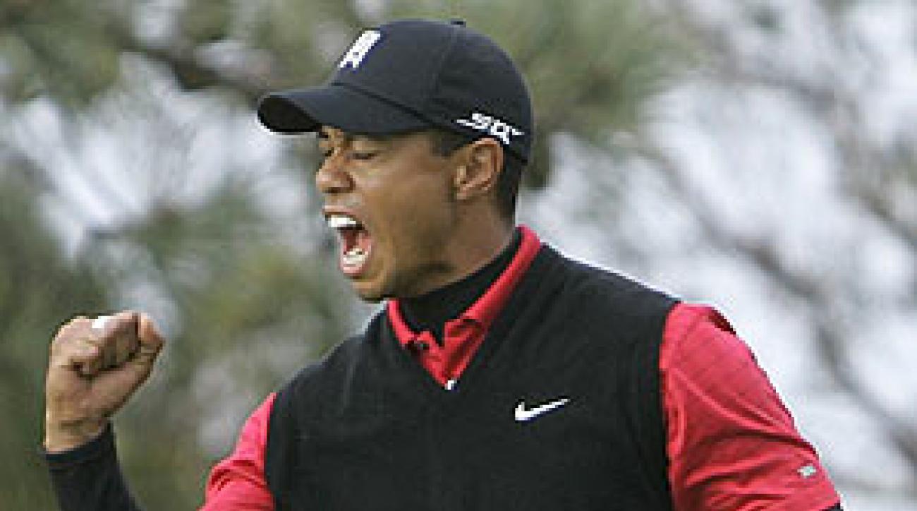 Tiger finished the tournament at 19 under par.