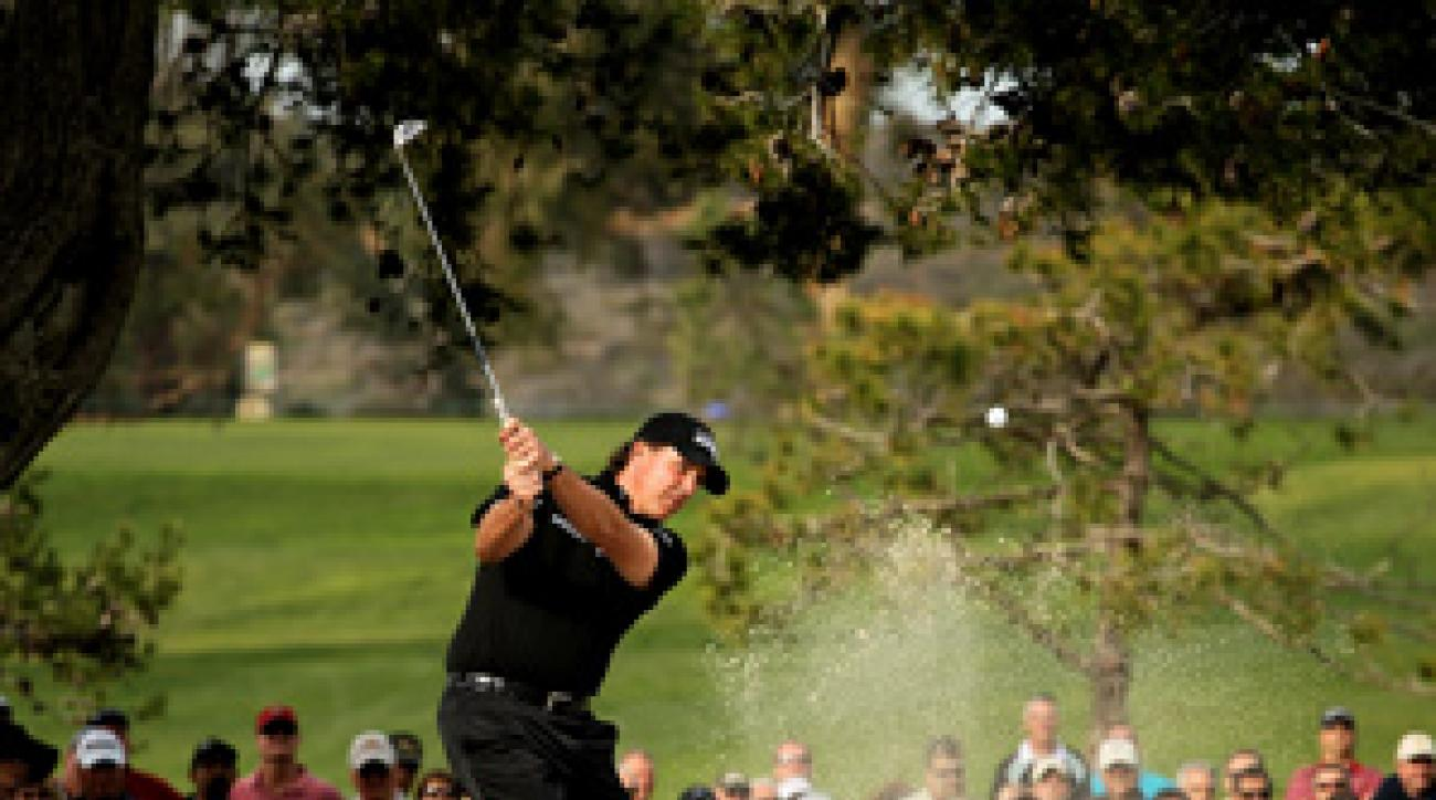Phil Mickelson is using a Ping Eye2 wedge this week.