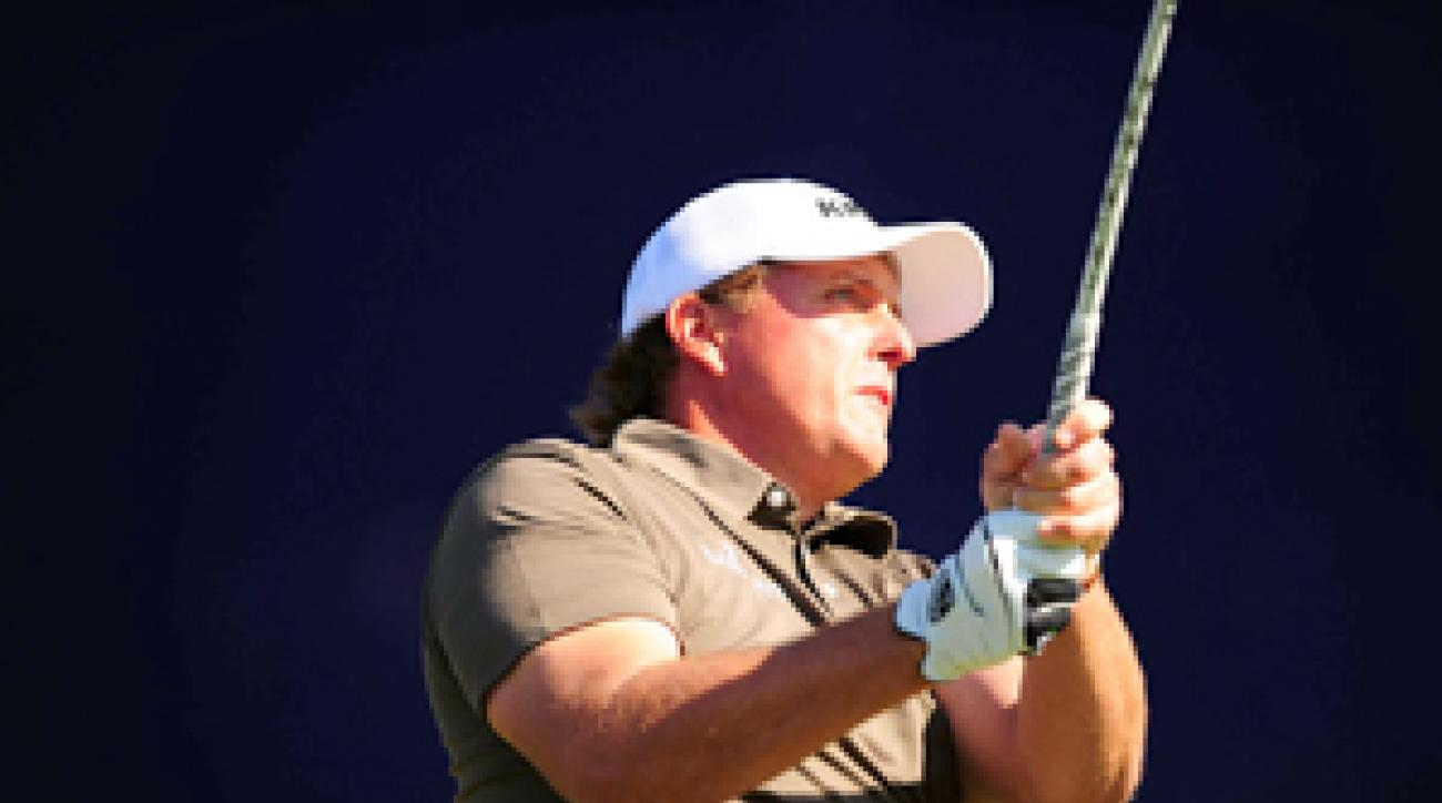 Phil Mickelson is tied for the lead with Bill Haas heading into the final round.