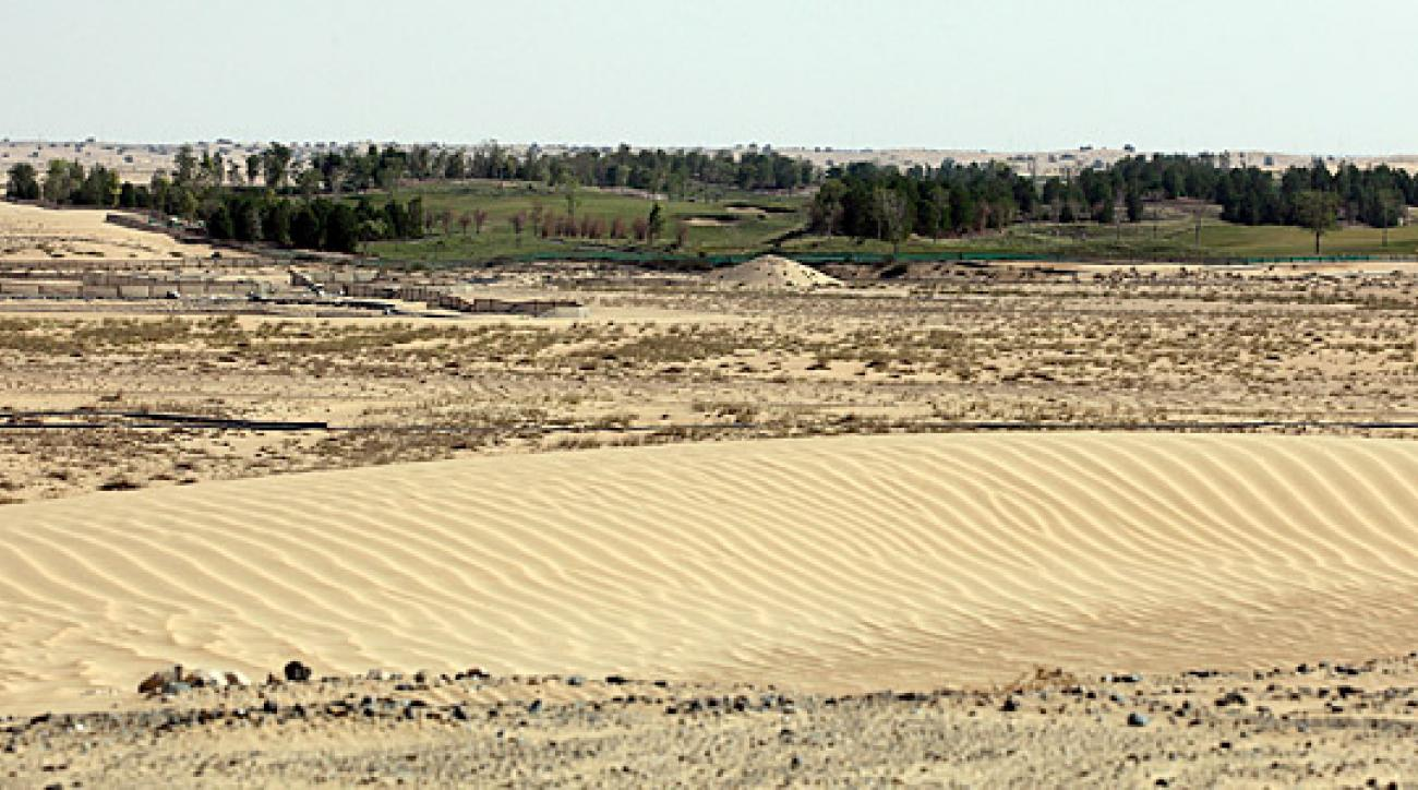 The developer of a Tiger Woods signature golf course in Dubai (pictured here) says the project has been suspended because of a drop in demand for luxury properties.