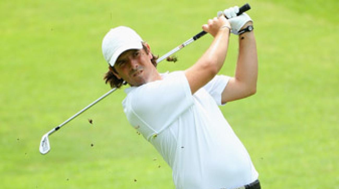 Thomas Aiken fired a 64 to lead after the first round.