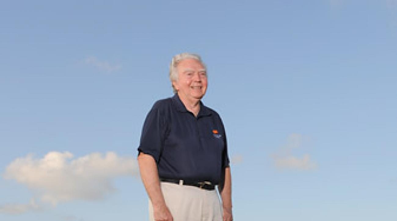 Jerry Barton at one of his courses in Barbados in 2008.