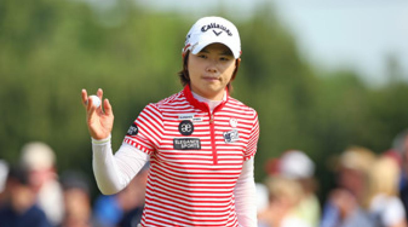 Eun-Hee Ji made five birdies and three bogeys.