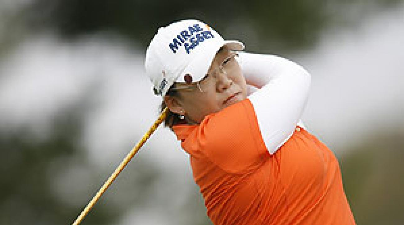 Jiyai Shin is tied for the lead at six under par.