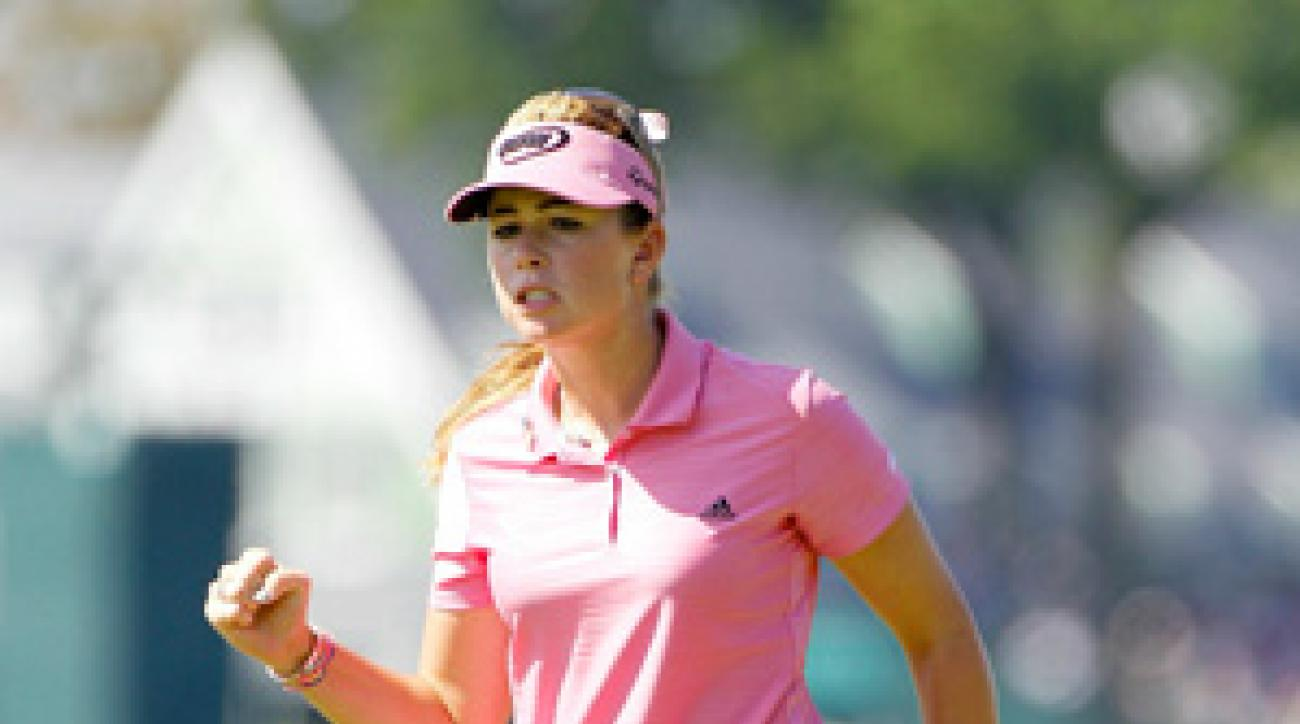 Paula Creamer birdied 17 to grab a share of the lead.