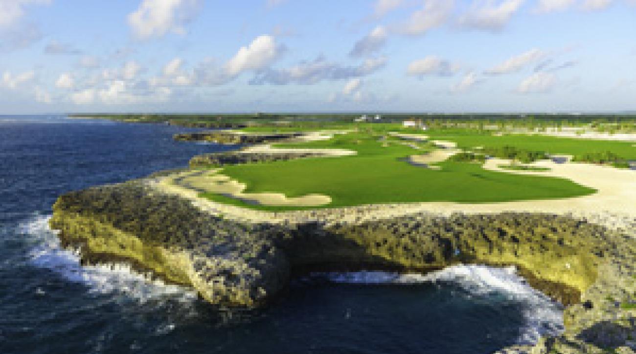 Six holes at Corales run along Punta Cana's rocky shore.
