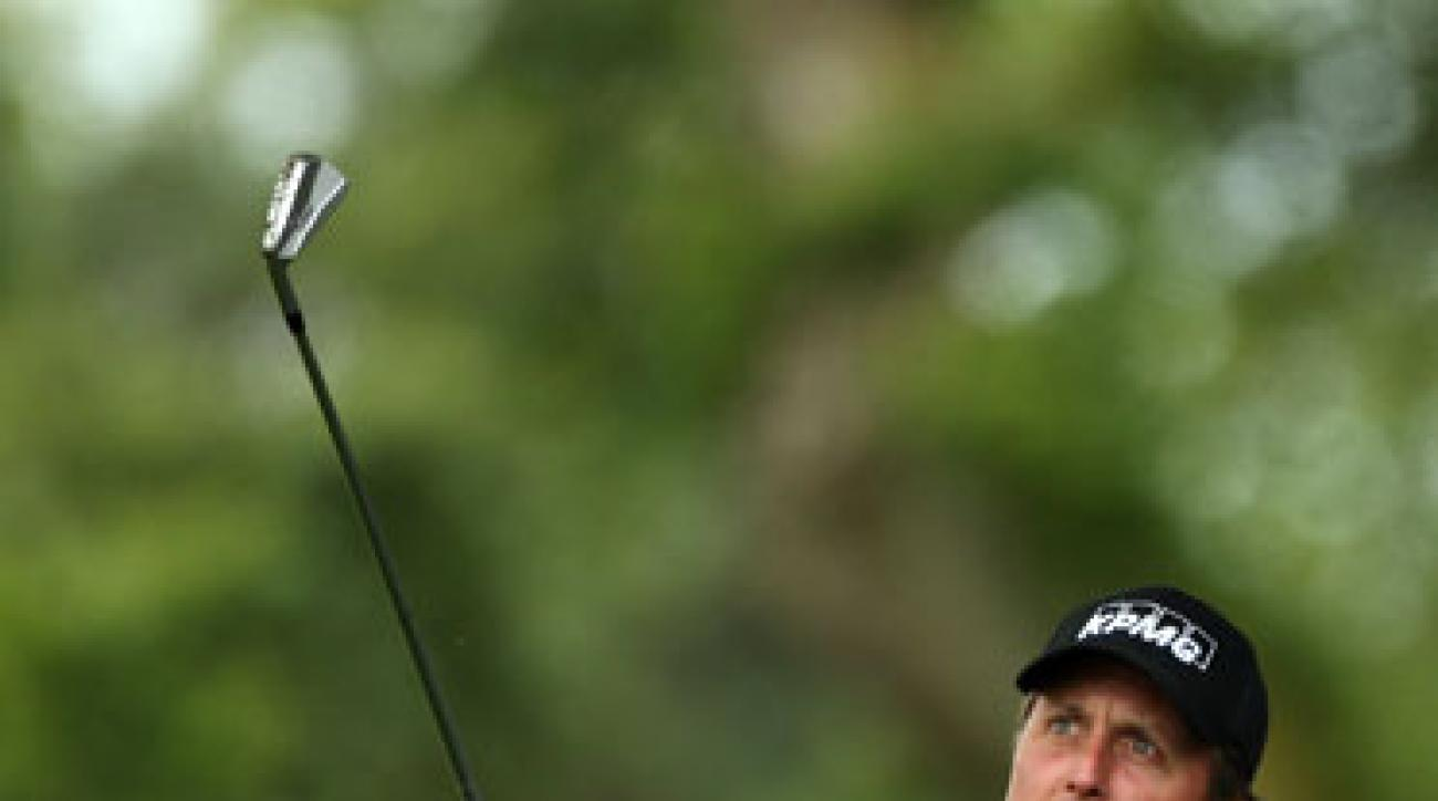 Phil Mickelson made an ace, three birdies and a bogey.