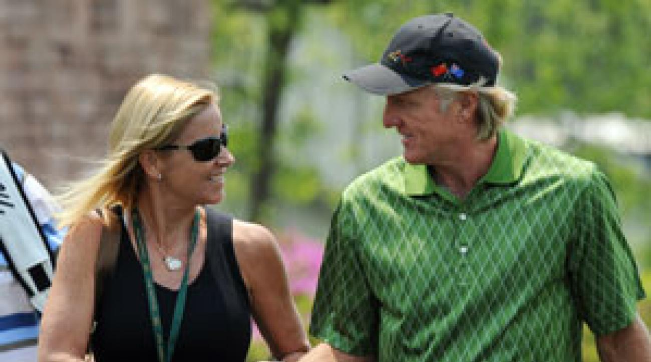 Greg Norman married tennis great Chris Evert last month.