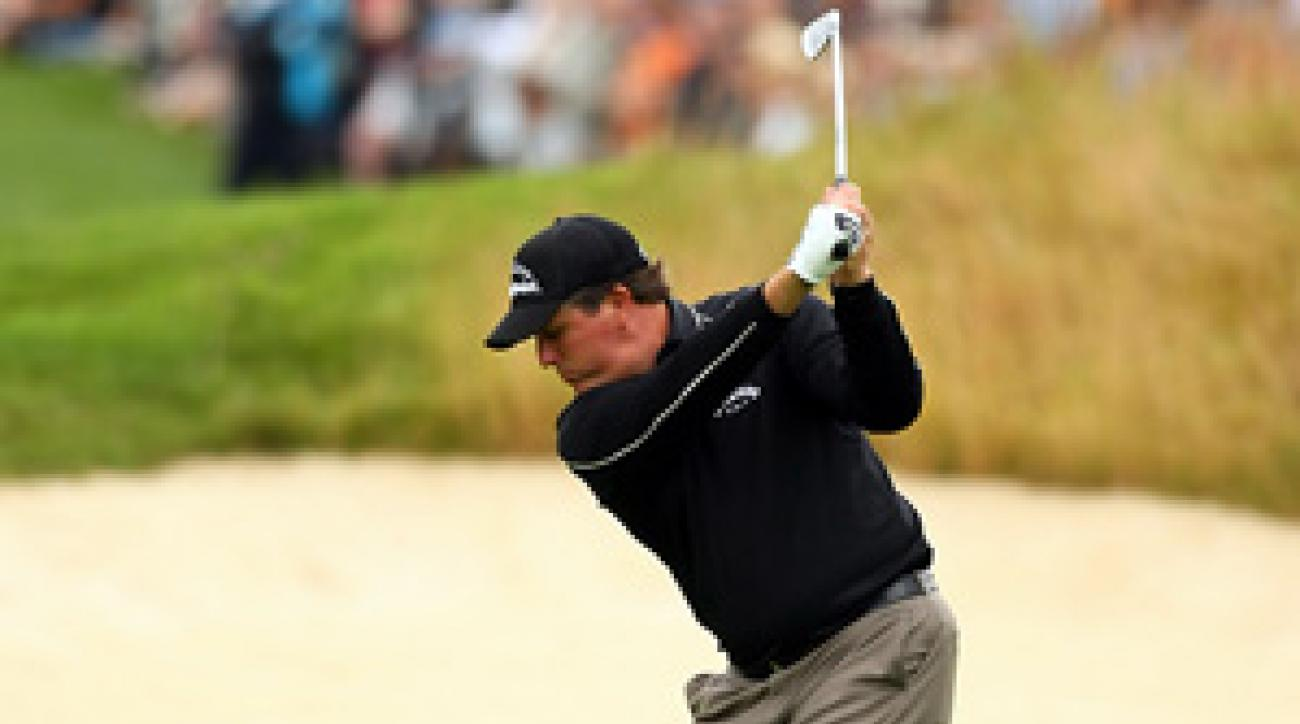 Phil Mickelson shot a three-under 68 at the Scottish Open.