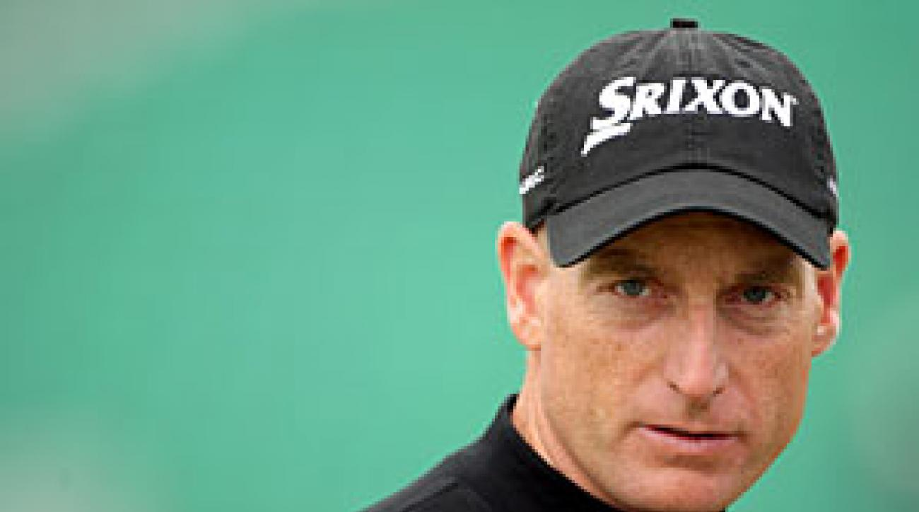 Jim Furyk during a practice round on Monday.