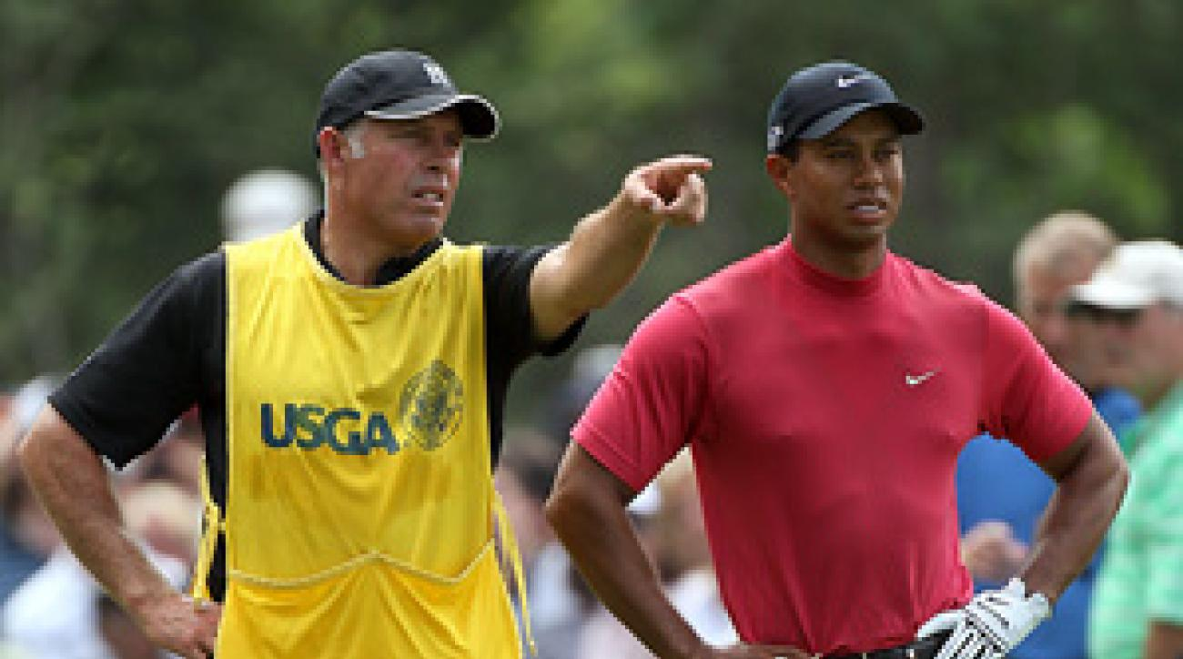 Steve Williams has been on Tiger Woods's bag for 13 of his 14 major championships.