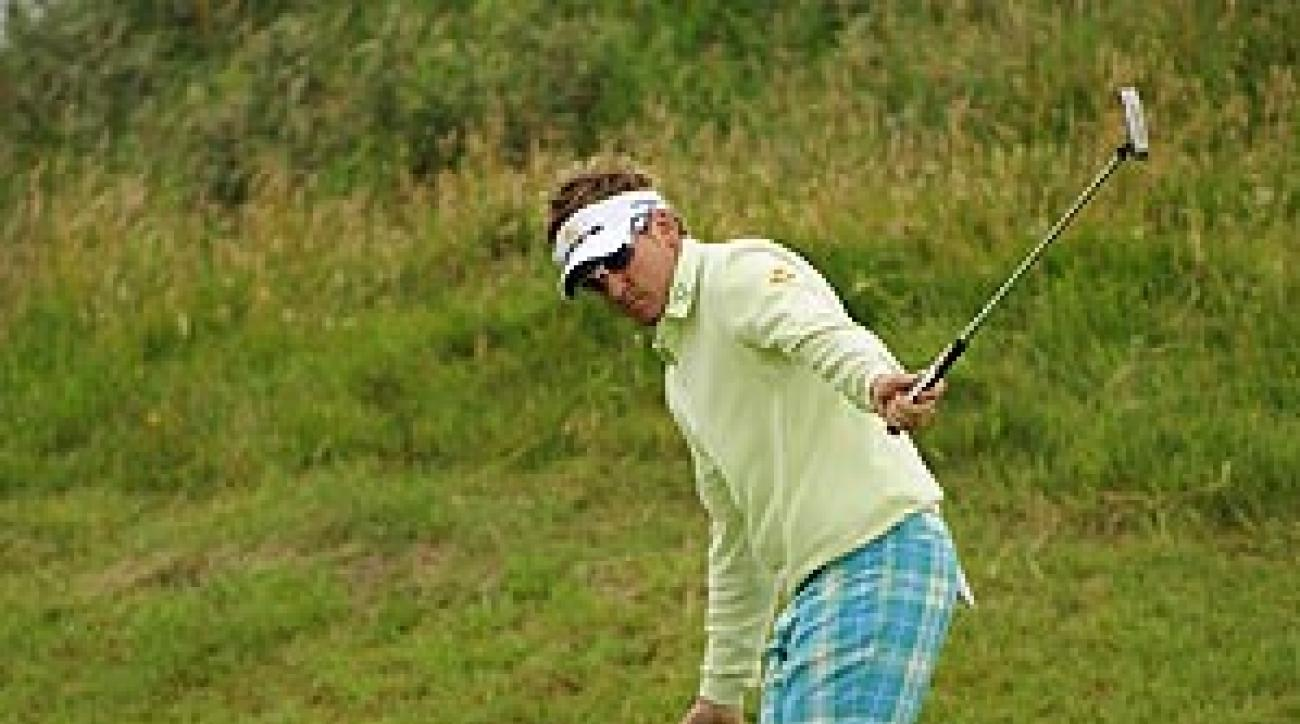 Poulter is at three over par.