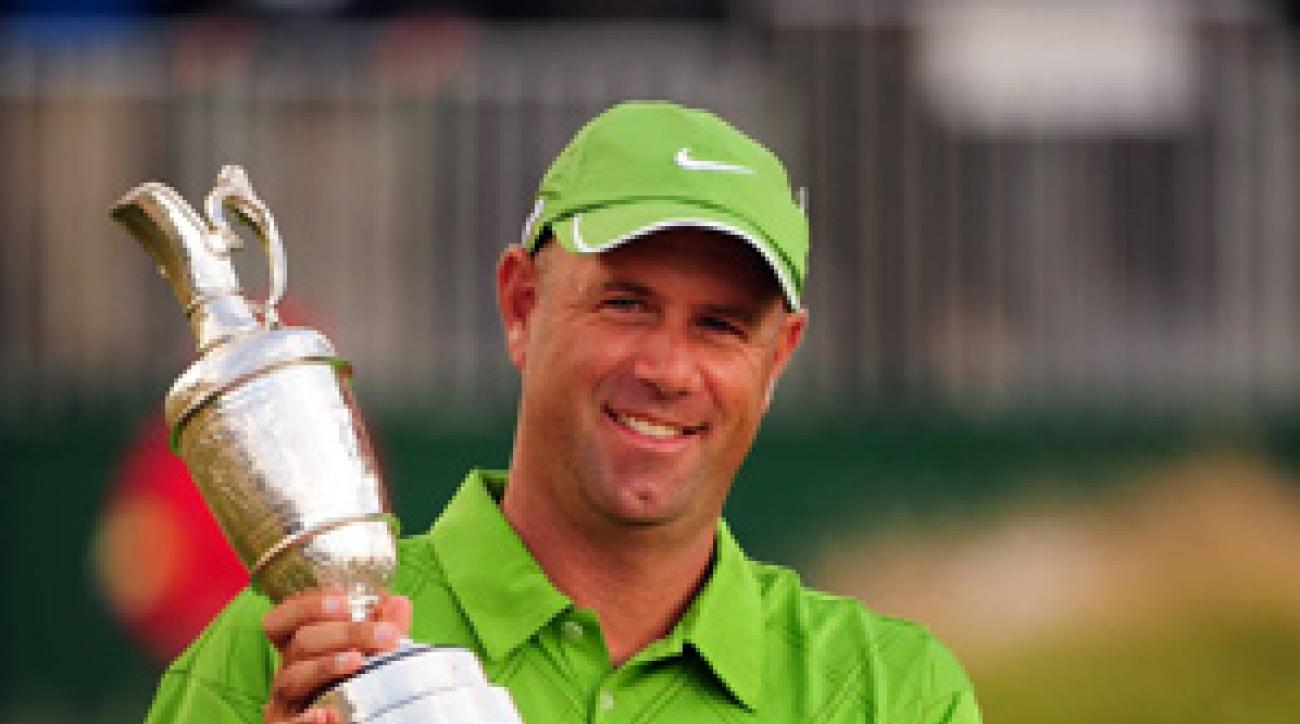 Stewart Cink made a birdie on 18, then he beat Tom Watson in a four-hole playoff to win his first major.