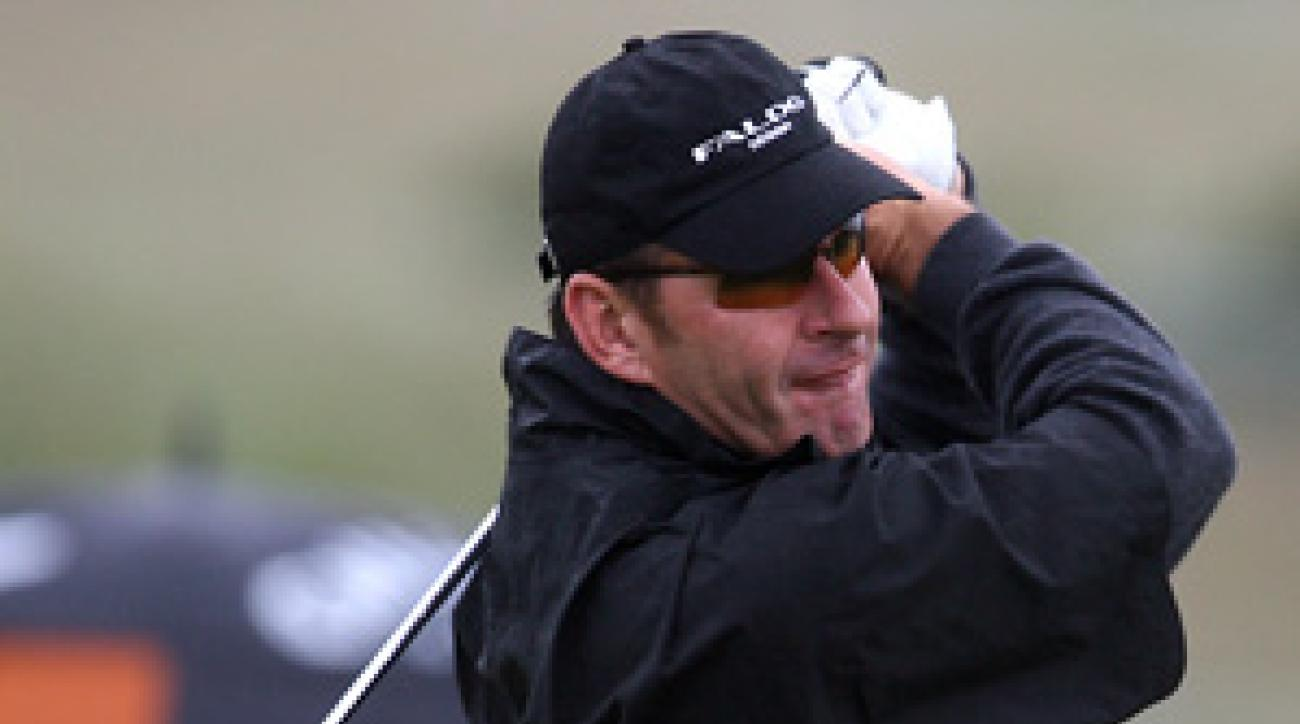 Nick Faldo opened with a 79 Thursday.