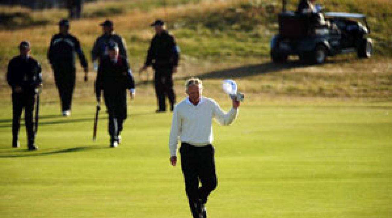 Greg Norman will try to add another major title to his resume on Sunday.