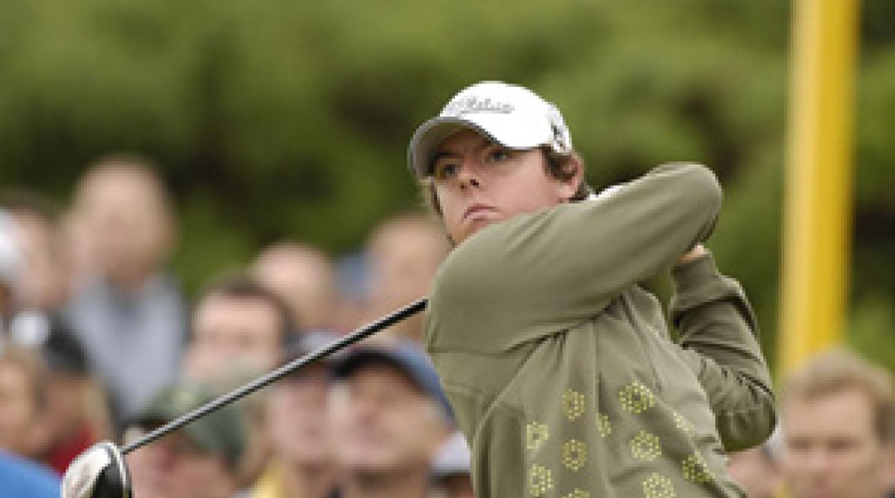Rory McIlroy shot a five-over 76 Friday.