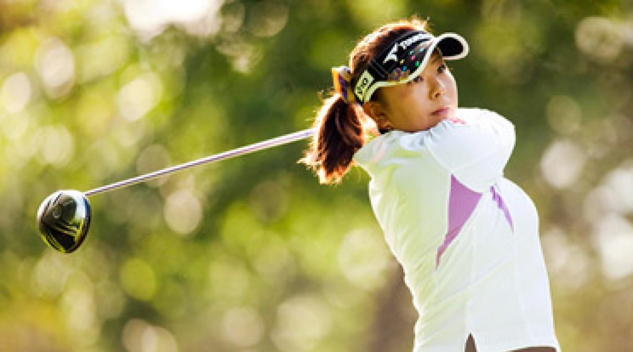 Miki Saiki has a one shot lead after carding a 67.
