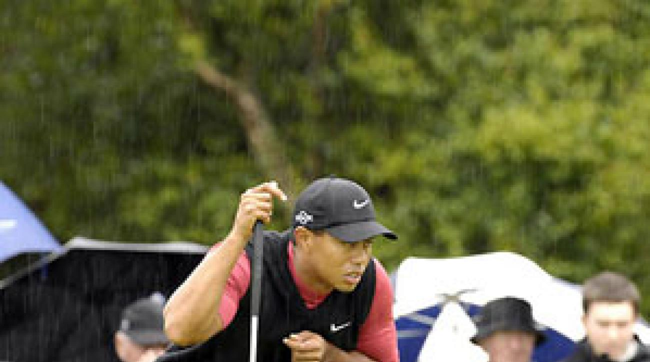 Defending champion Tiger Woods couldn't make a charge Sunday. He finished at two under.